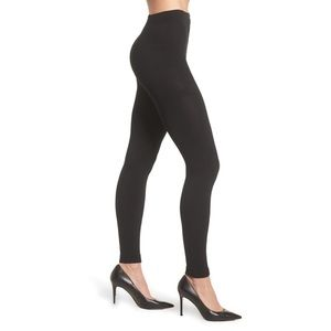 2 Pack Footless Fleece Lined Tights HighRise Black